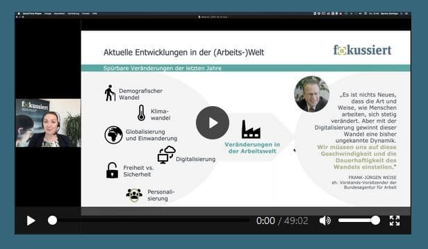 """Webinar der Kampagne """"fokussiert"""" mit Julia Kröll"""