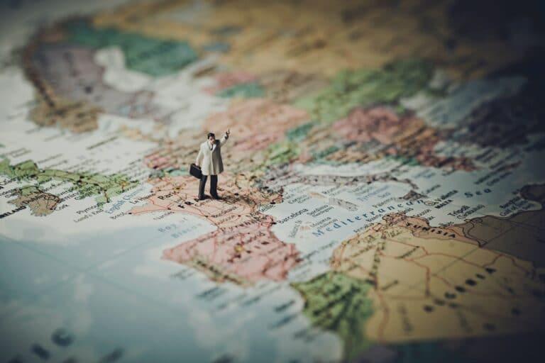 Ausschnitt einer Landkarte von Europa