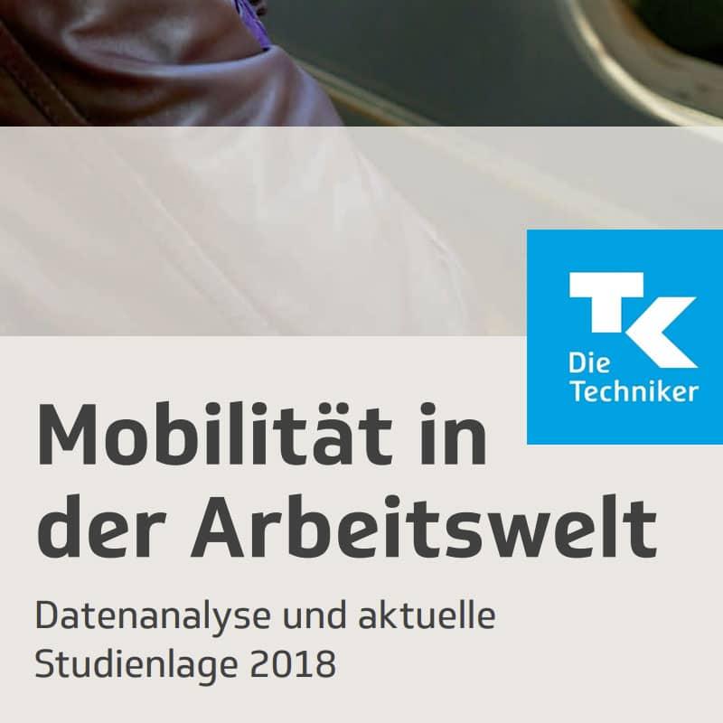 Titelbild der Datenanalyse und aktueller Studienlage 2018 unter dem Namen Mobilität in der Arbeitswelt