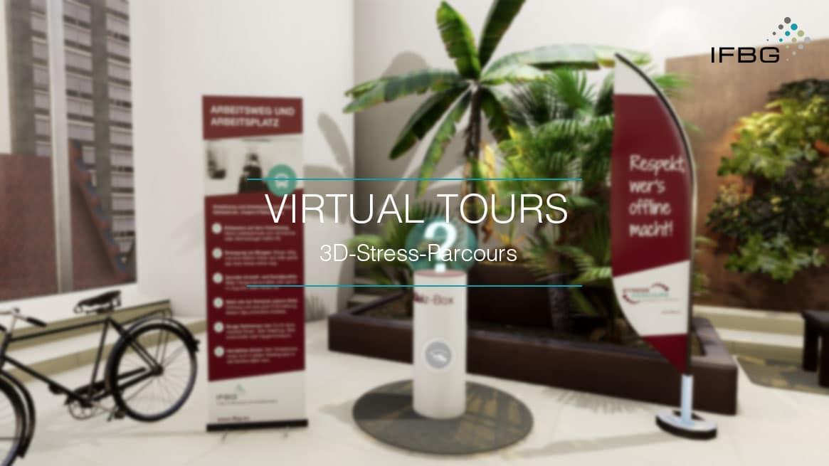 Screenshot virtueller 3D Stress Parcours des IFBG